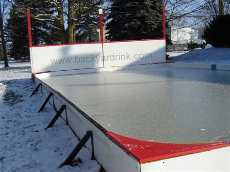 Backyard Ice Rink Without Liner