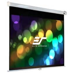 elite screens   manual pull  projection screen