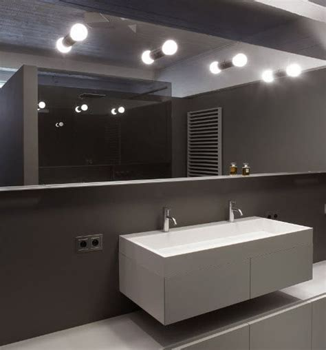 contemporary wall lights bathroom mirror fluorescent 54240