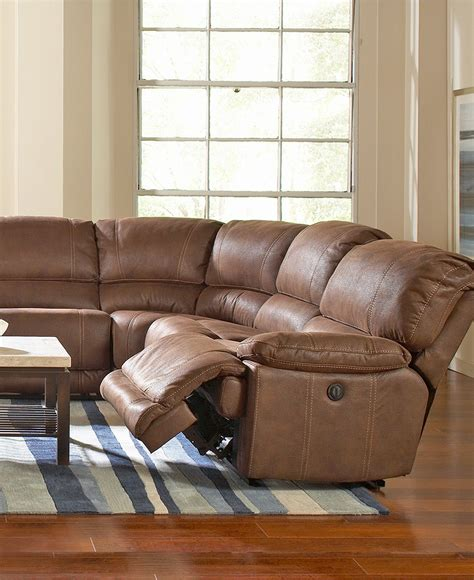 Sofa Sectional With Recliner by Jedd 6 Pc Fabric Sectional Sofa With 2 Power Recliners
