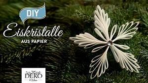 Deko Kitchen : diy weihnachtsdeko mit eiskristall anh ngern aus papier how to deko kitchen youtube ~ A.2002-acura-tl-radio.info Haus und Dekorationen