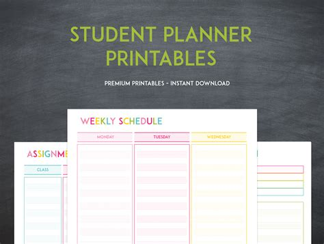 student planner printable student planner keeping your grades up has never been easier sweet paper trail