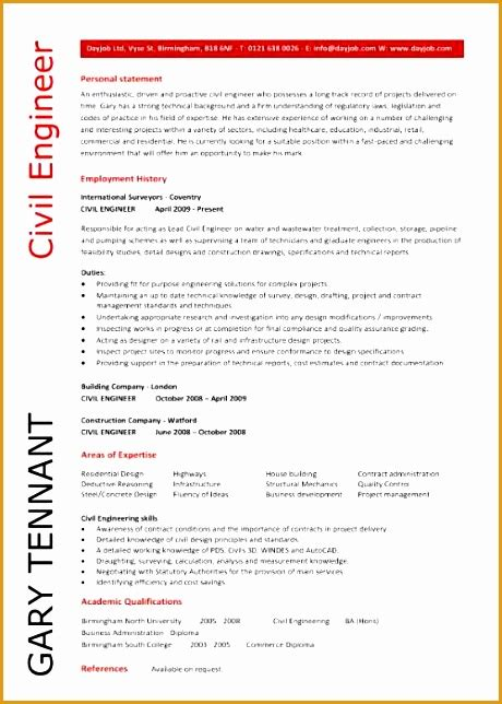 6 civil engineering cv resume template free sles