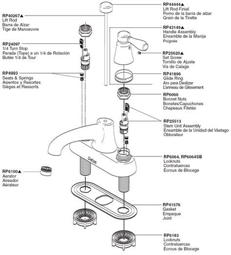 delta sink parts plumbingwarehousecom delta bathroom faucet parts  sociedadredorg