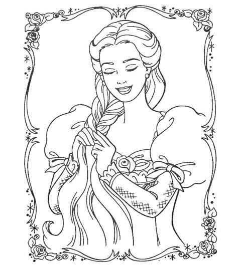 Puoi scaricare e stampare le pagine da colorare per bambini. Barbie Cuore Principessa, Disegni per bambini da colorare