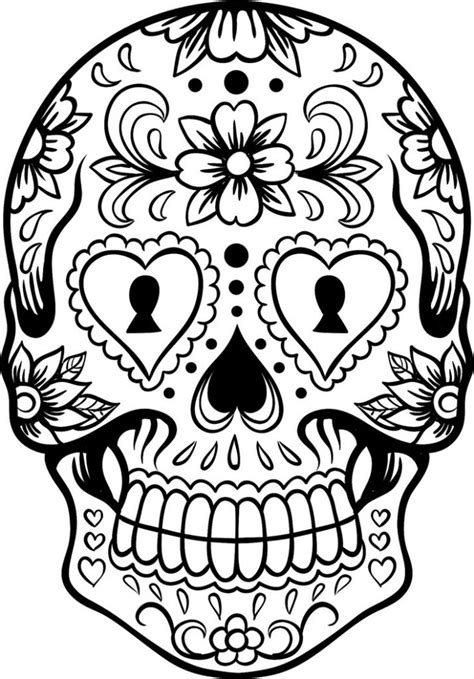 sugar skull coloring pages  coloring pages  kids