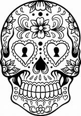Coloring Skull Pages Sugar sketch template