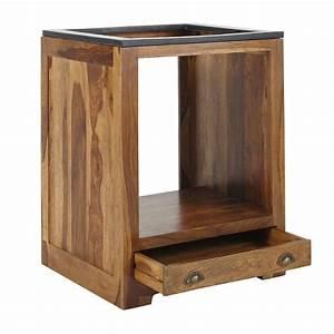 meuble bas de cuisine pour four en bois de sheesham massif With meuble de cuisine bois massif