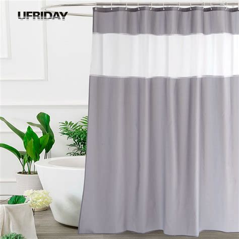 Translucent Shower Curtain - ufriday modern mosaic fabric shower curtain for bathroom