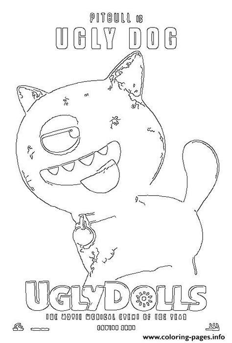 pitgull  ugly dog uglydolls coloring pages printable