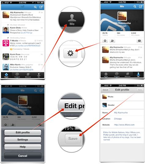 edit iphone how to edit your profile with for iphone