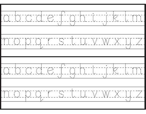 traceable letter worksheets  print alphabet