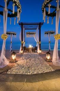 décorer la plage pour mariage laïque à l 39 océan