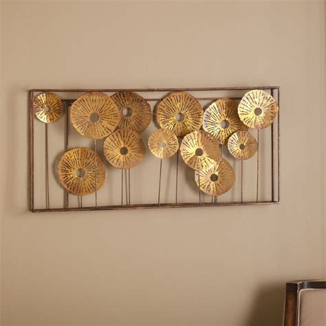 wall decor metal wall sculpture gold abstract decor accent