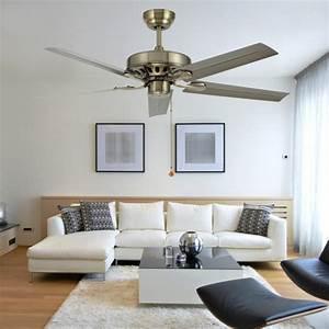 Inch iron leaf ceiling fan light modern minimalist
