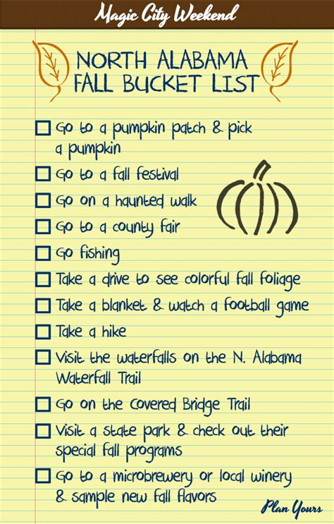 This Fall Bucket List will help you enjoy the full autumn ...