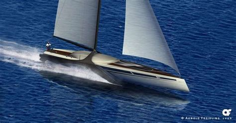 Hydrofoil Yacht Design by Hydrofoil Sailing Yacht Designs Yachts Boats