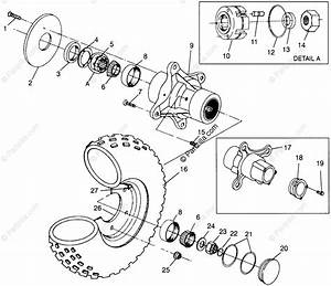 Polaris Atv 1996 Oem Parts Diagram For Front Wheel