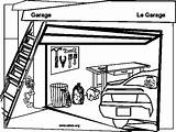 Garage Coloring Garages Sketch Games Printablecolouringpages Larger Credit sketch template
