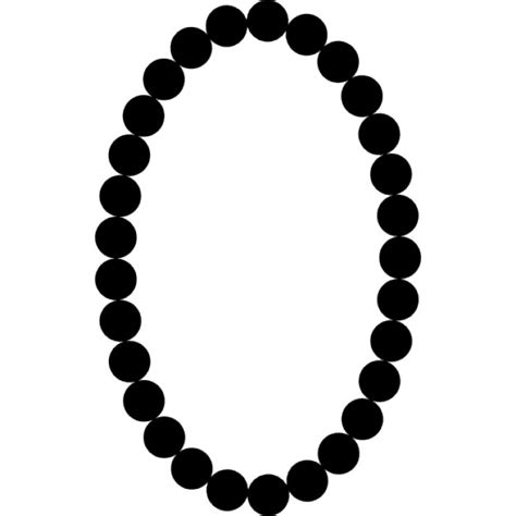 pearl necklace clipart black and white pearls necklace oval frame shape icons free