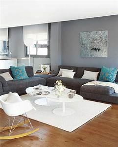 deco salon blanc gris bleu With gris couleur chaude ou froide 3 salon bleu gris chaios
