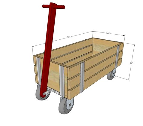 ana white beautiful wood wagon  children industrial style diy projects