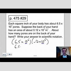 2013 Lesson 723 Scientific Notation Word Problems Youtube