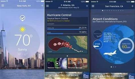weather channel app for iphone accurate weather apps for iphone ipod touch top 10