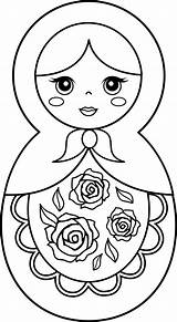 Pages Doll Coloring Dolls Matryoshka Printable Russian Nesting Clipart Clip Drawing Colouring Sweetclipart Template Barbie Silhouette Babushka Pattern Cliparts Sketch sketch template