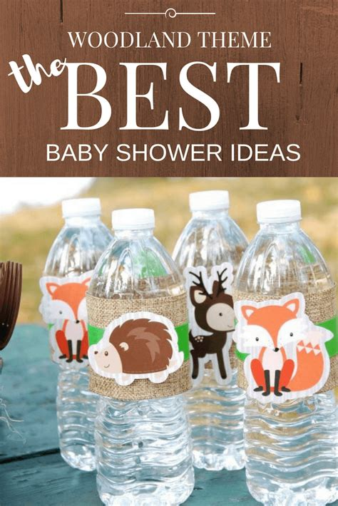 woodland baby shower theme ideas decorations games