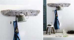 Déco : une porte manteau en bois flotté Prima