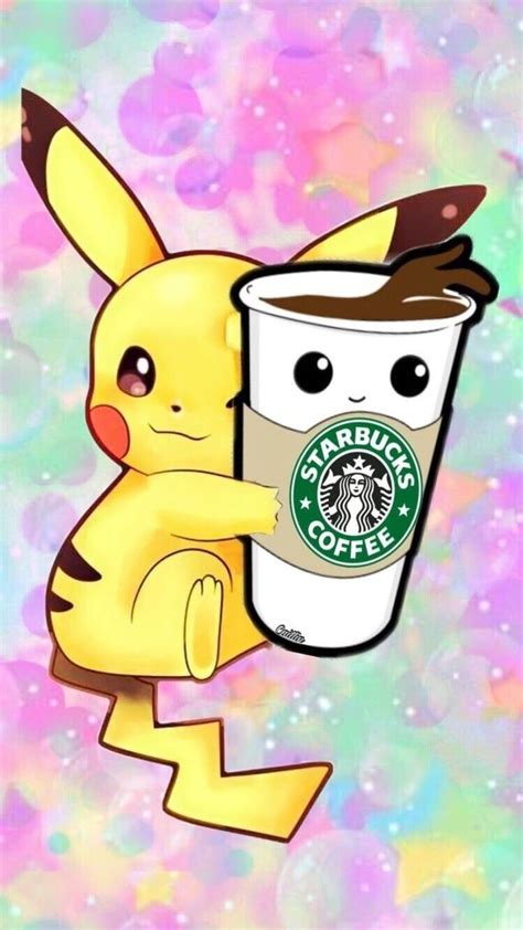pikachu  starbucks coffee wallpaper wallpaper