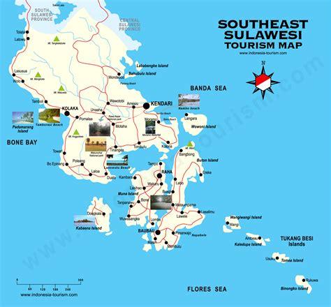 southeast sulawesi map peta sulawesi tenggara