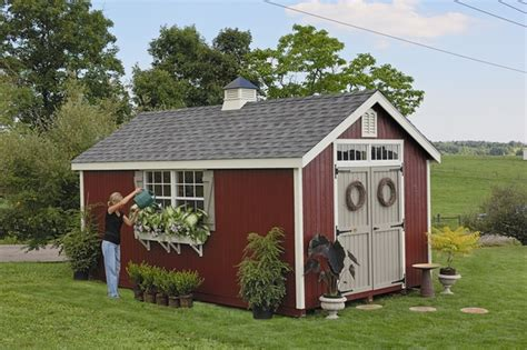 10 X 20 Wooden Storage Shed by Williamsburg Colonial Wooden Outdoor Garden Shed Kit 10