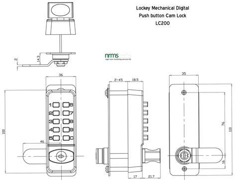 Lockey Lc200 Push Button Cabinet Lock From Nigel Rose Ms
