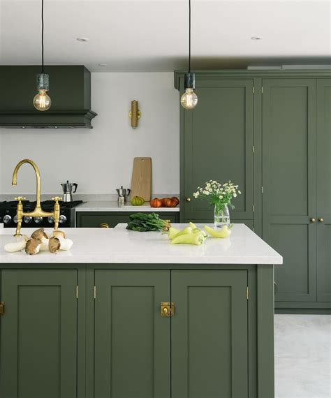 devol kitchens  instagram  classic deep olive green