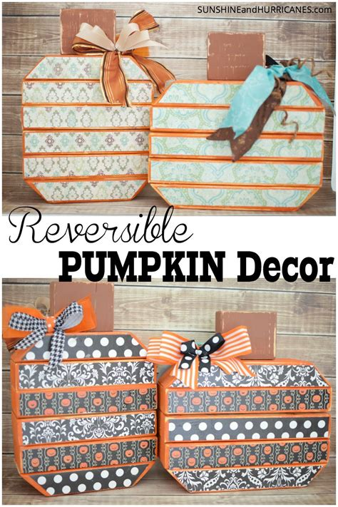 reversible pumpkin decor pumpkin decorating  crafts