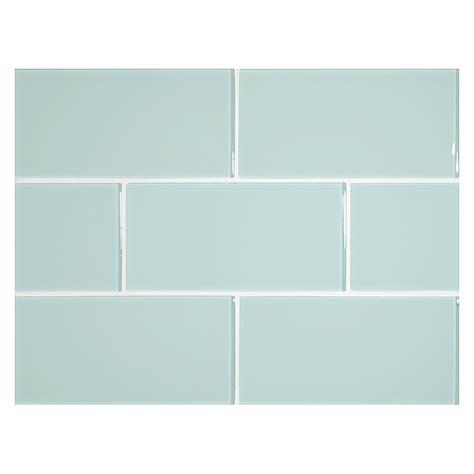 subway tile kitchen backsplash glass expressions tile 3 quot x 6 quot pale blue clear