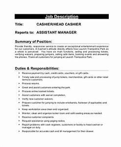 Sample Cashier Job Description