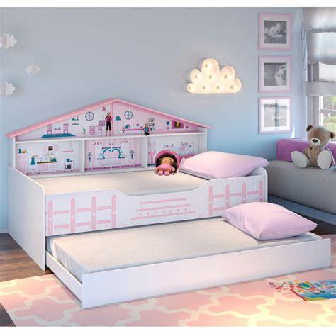 bicama infantil casa de boneca  prateleiras pura