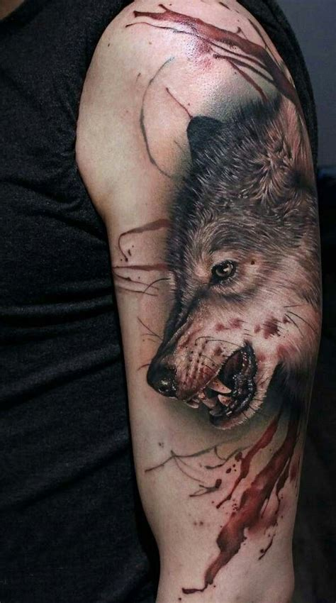 wolf oberarm wolf wolf ideen w 246 lfe