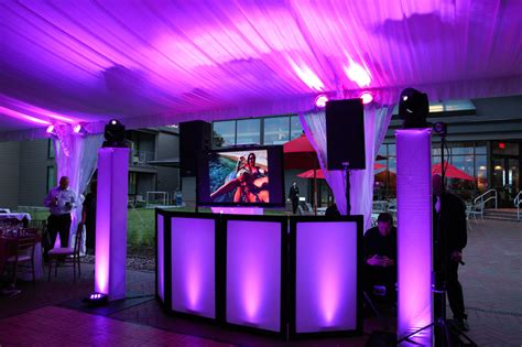 simple dj lighting setup i like the trust white coverings with the moving lights