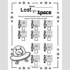 Music Worksheets  Treble Clef Note Names By Lindsay Jervis Tpt