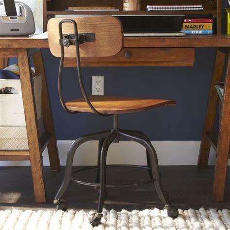 wooden swivel desk chair vintage wood swivel chair modern office chairs by pbteen