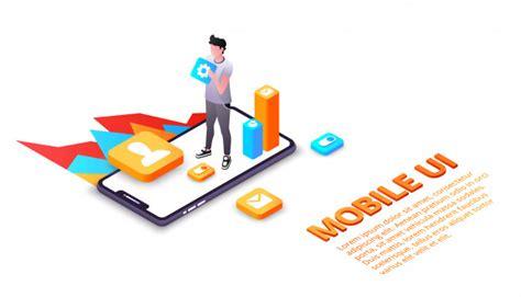 Mobile ui illustration of smartphone user interface or ux ...