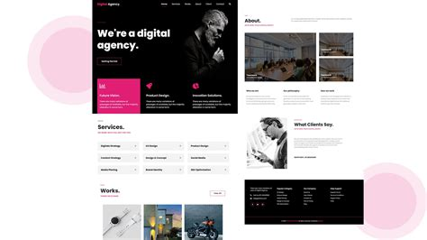 complete responsive website  bootstrap  html