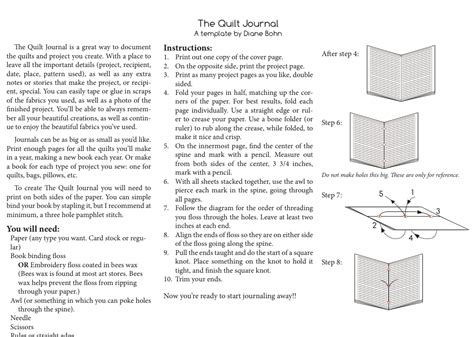 Quilt Journal Template by From Blank Pages Quilt Journal