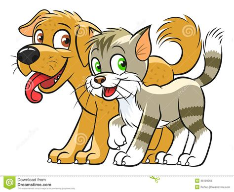 cute cat  dog stock vector illustration  character