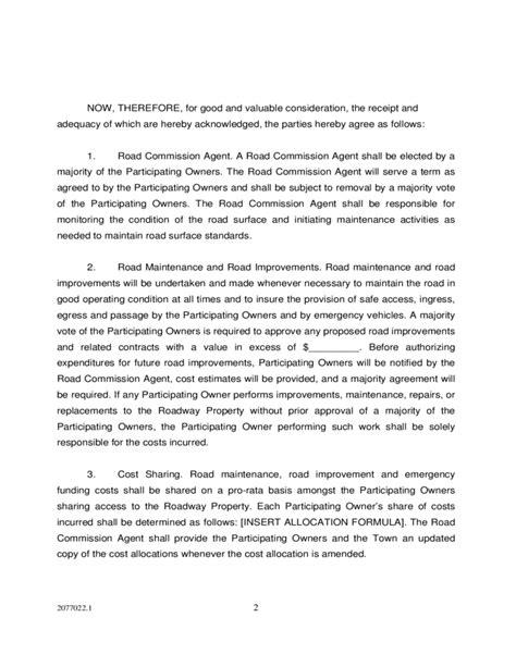 private road maintenance agreement los altos hills