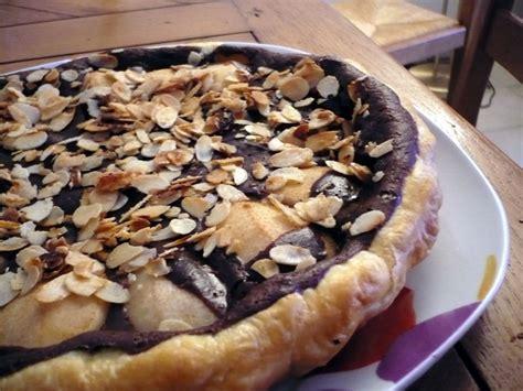 tarte poire chocolat pate feuilletee tarte poire chocolat et amandes le chaudron de morella